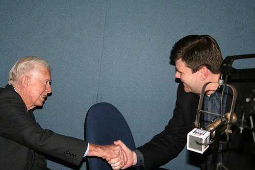 Jimmy Carter Visits KOMO TV and Radio in Seattle, Feb 11th 2009